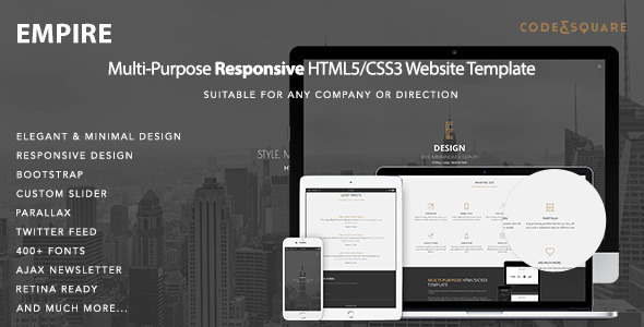Empire – Multipurpose One Page Responsive Template