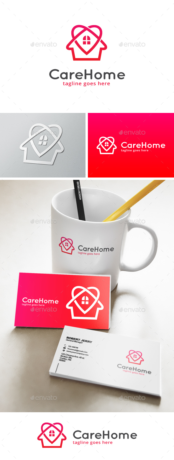 Care Home Logo - Buildings Logo Templates