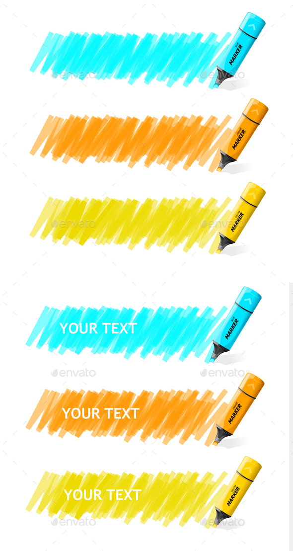 Markers Text Box. Vector - Communications Technology