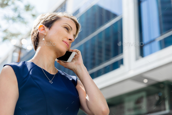 Hello there from business lady - Stock Photo - Images