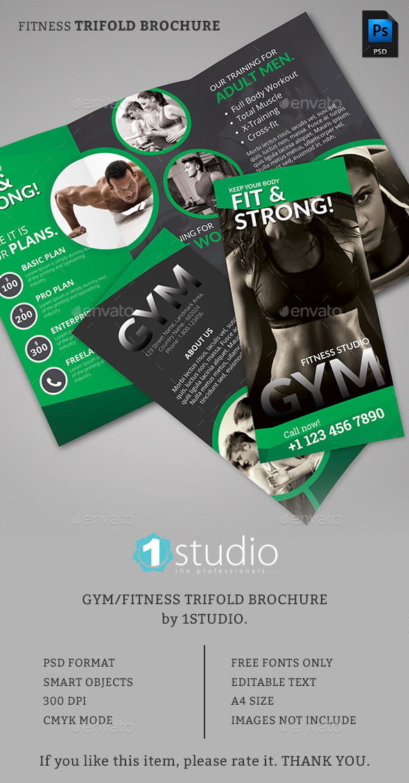 Fitness Trifold Brochure 01 - Corporate Brochures