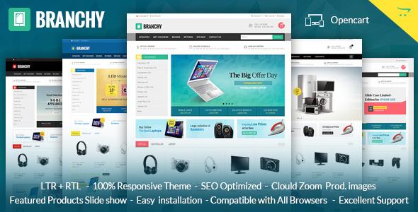 Branchy - Opencart Responsive Theme - Technology OpenCart