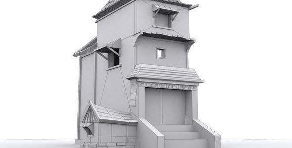 Low Poly House 3 Model - 3DOcean Item for Sale