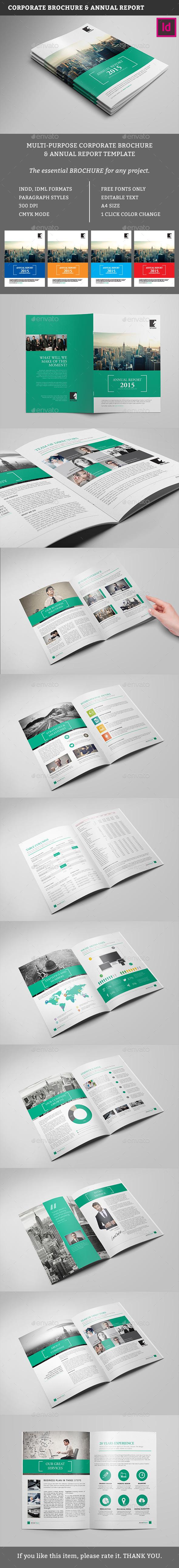 Multipurpose Business Brochure Template - Corporate Brochures