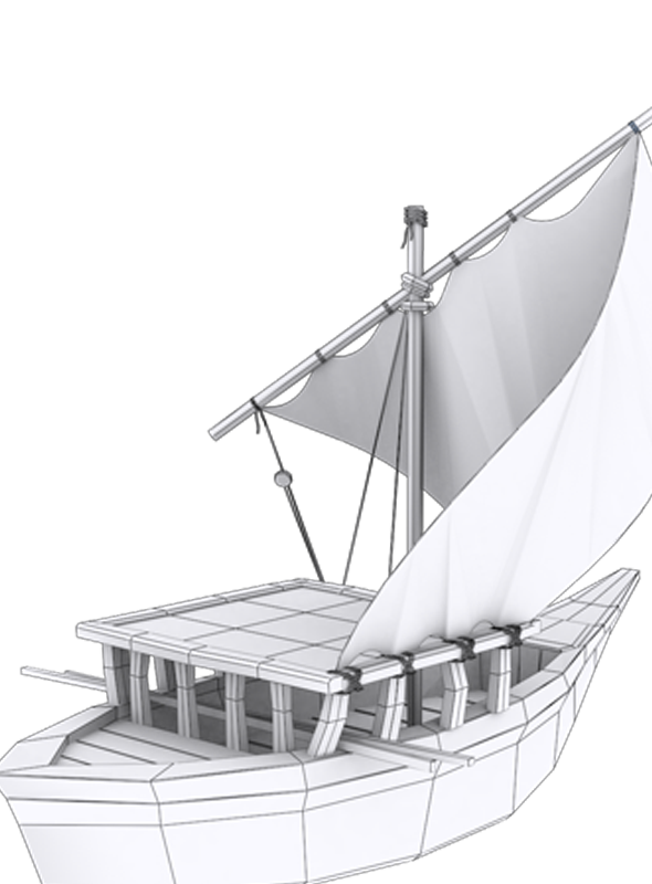 Low Poly Ship Model 1 - 3DOcean Item for Sale