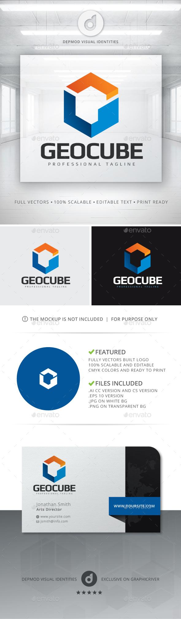 GeoCube Logo - Letters Logo Templates