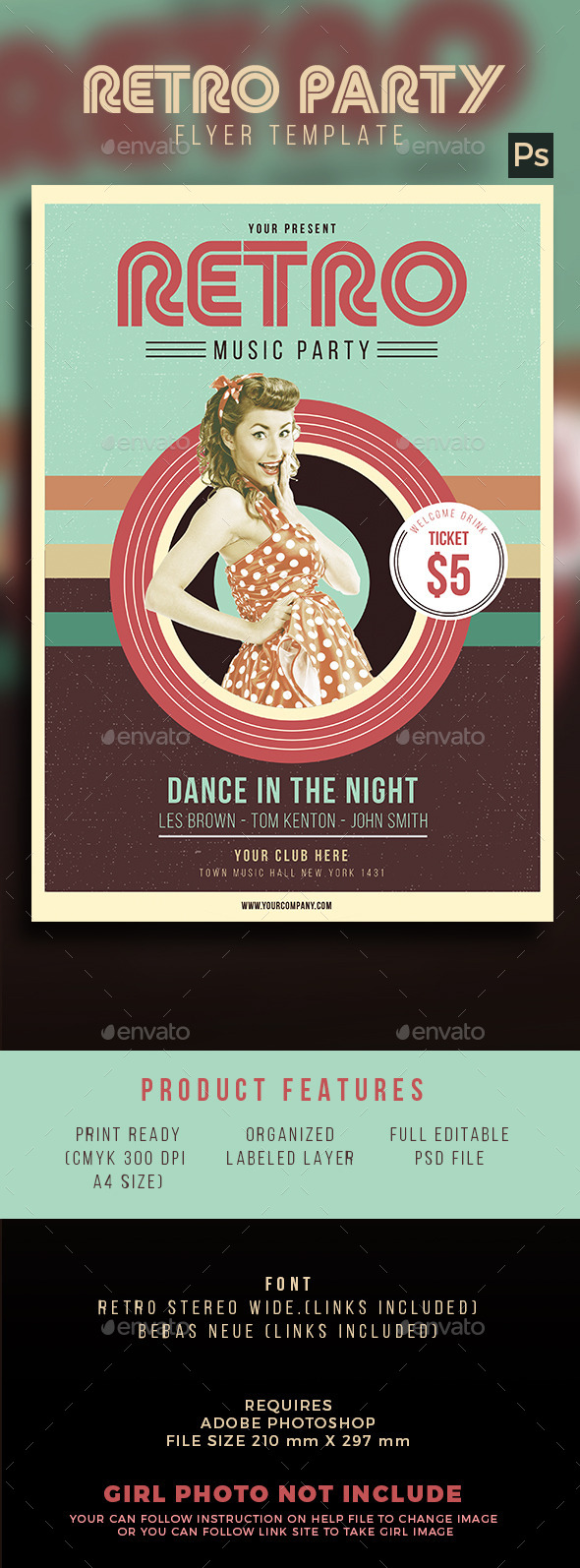 Retro Party - Events Flyers