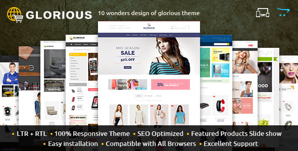 Glorious - Opencart Responsive Theme - OpenCart eCommerce