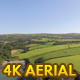 Aerial Sunny UK Coastline with Green Fields - VideoHive Item for Sale