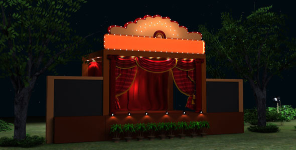 Wedding Stage Model - 3DOcean Item for Sale