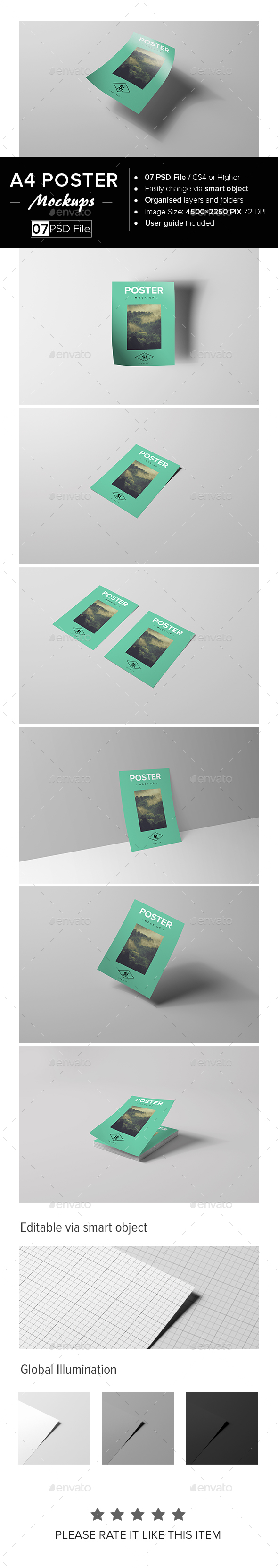 A4 Poster Mock-Up - Posters Print