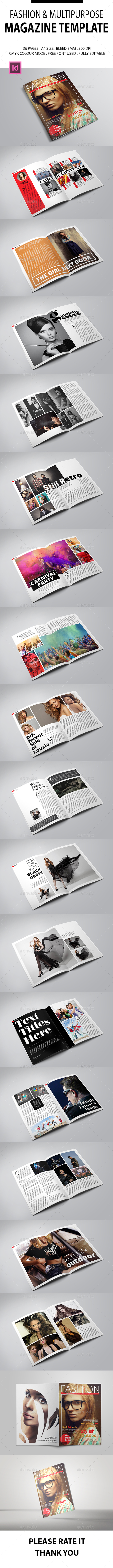Fashion & Multipurpose Magazine Template - Magazines Print Templates