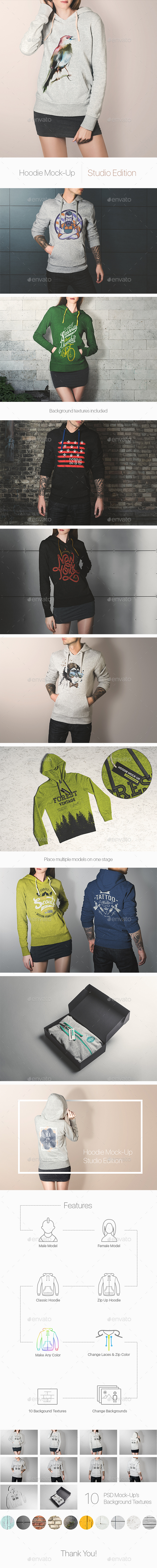 Hoodie Mock-Up / Studio Edition - Miscellaneous Apparel
