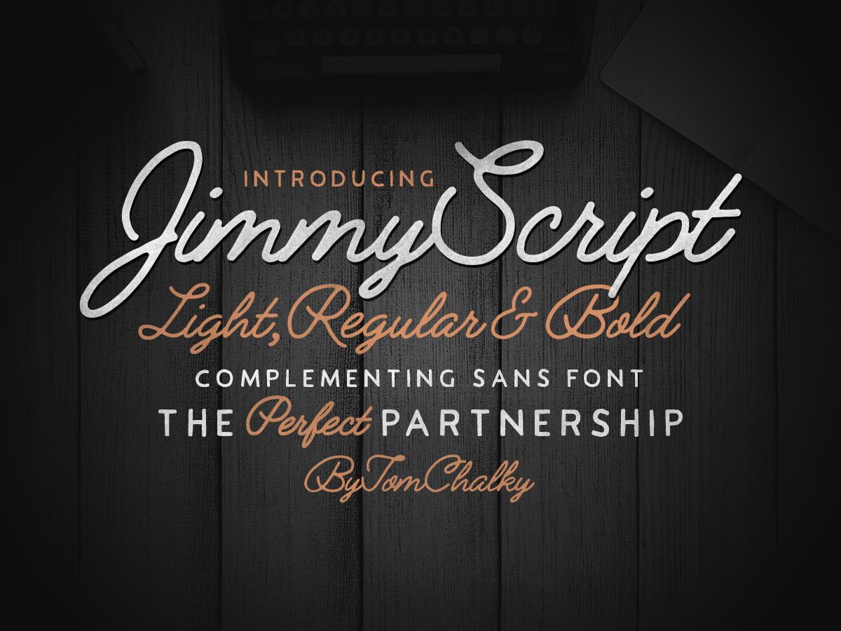 Jimmy Font Duo (5 Fonts!)