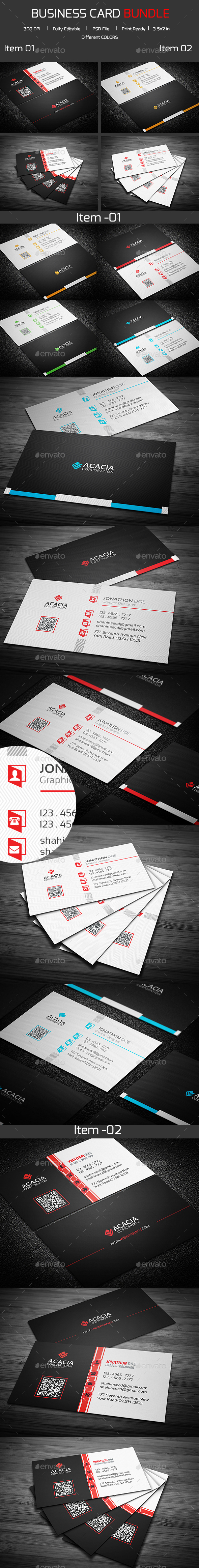 Bundle- 2 in 1 Business Card_05 - Corporate Business Cards