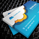 Cloud Hosting Business Card Design - GraphicRiver Item for Sale