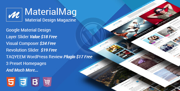 MaterialMag - Material Design Magazine WP Theme - News / Editorial Blog / Magazine