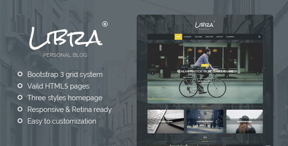 Libra – Personal Blog HTML Template