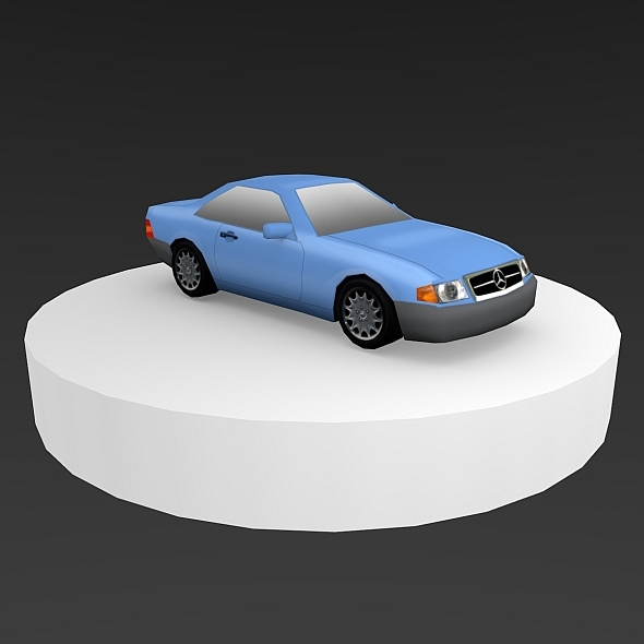 Mercedes Benz 1989 Low-Poly - 3DOcean Item for Sale