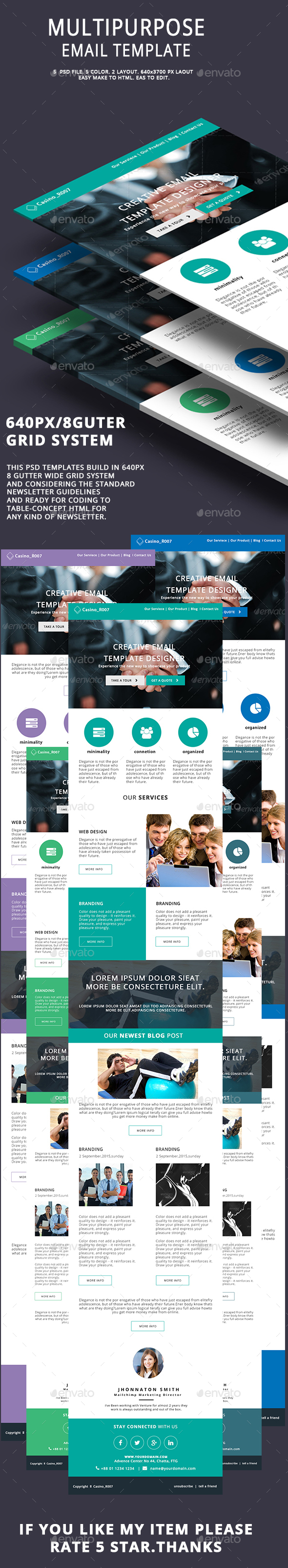 Multipurpose Email Template V6 - E-newsletters Web Elements