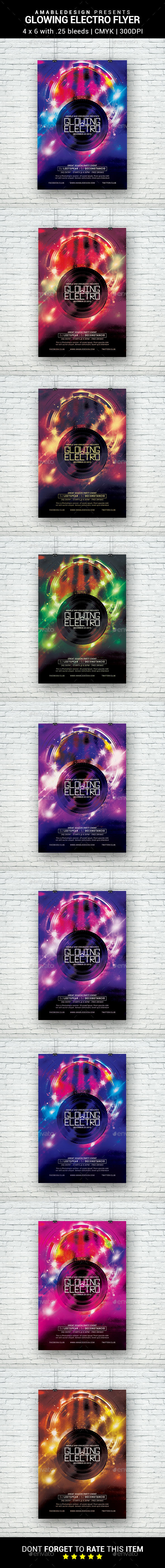 Glowing Electro Flyer - Clubs & Parties Events
