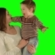 Happy Family Having Fun On a Green Screen - VideoHive Item for Sale
