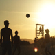 Young People Playing Beach Ball at Sunset - VideoHive Item for Sale