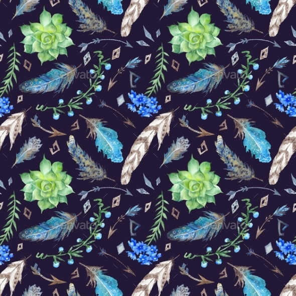 Tribal Forest Pattern - Backgrounds Decorative