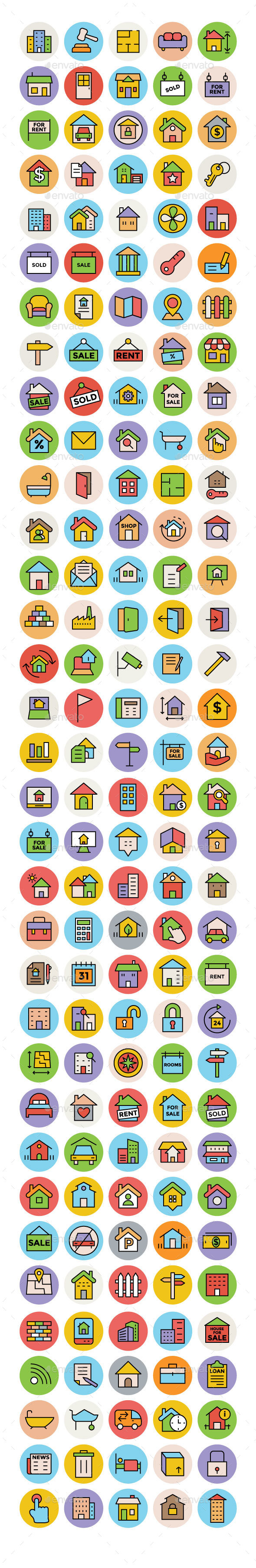 150+ Real Estate Icons Set - Business Icons