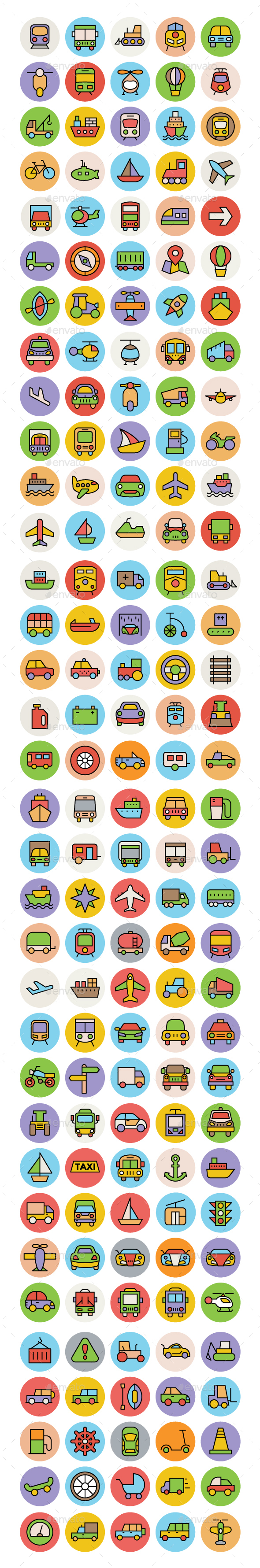 150+ Transport Icons Set - Icons