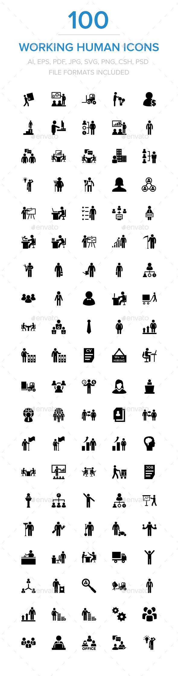 Working Human Icons - Icons
