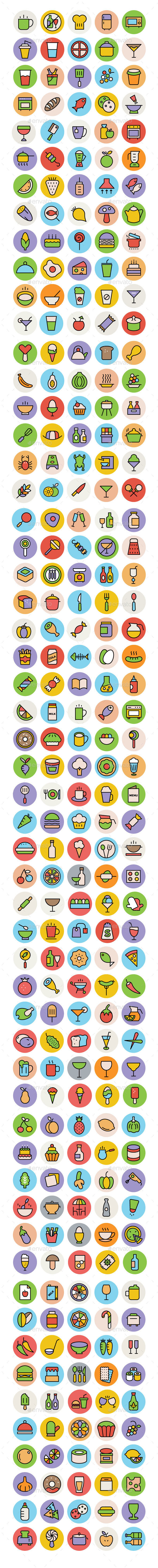 275+ Food Icons Set - Food Objects