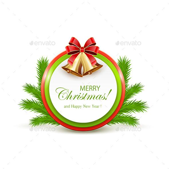 Christmas Card with Red Bow - Christmas Seasons/Holidays