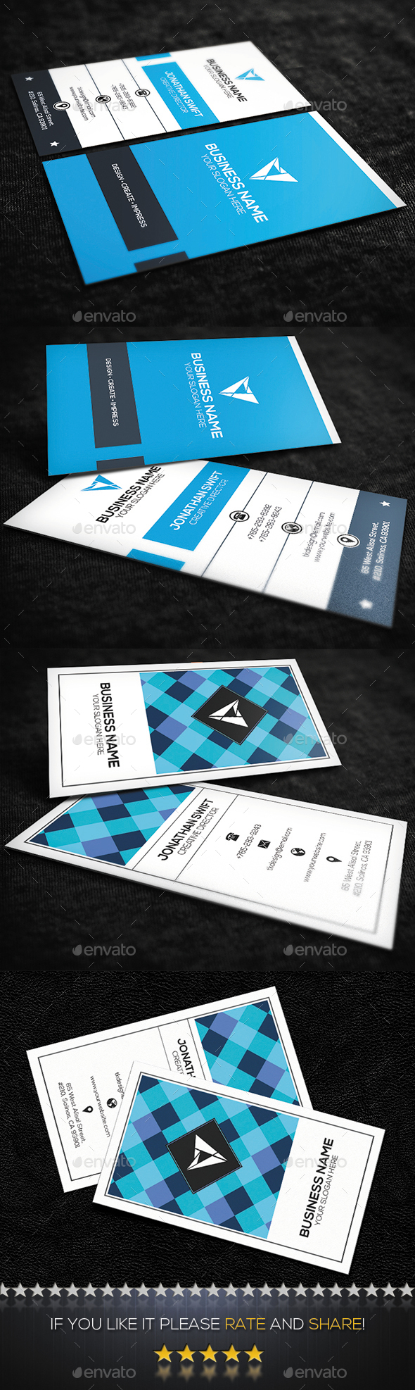 2 in 1 Corporate Business Card Bundle No.07 - Corporate Business Cards