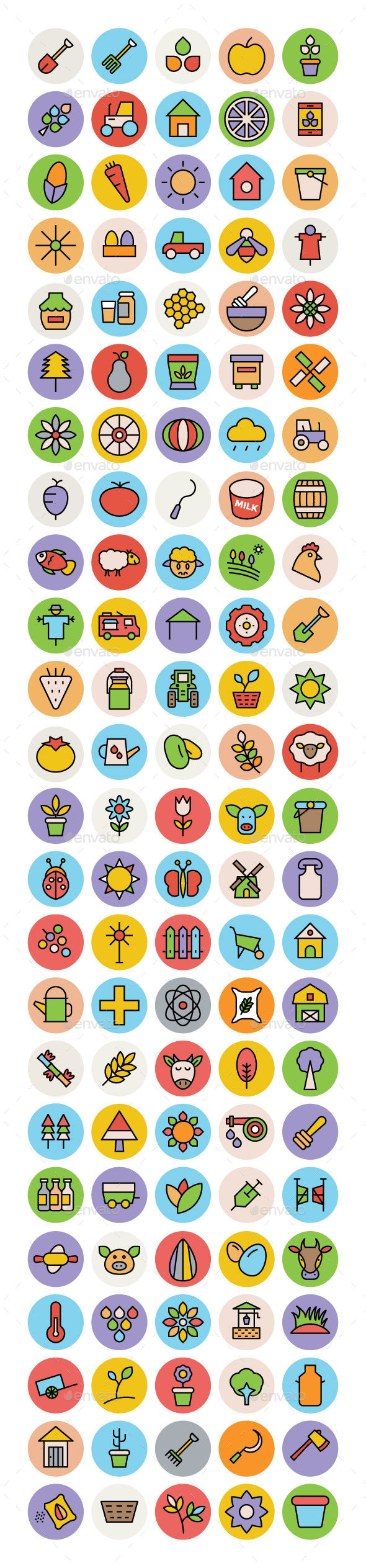 100+ Agriculture Icons Set - Icons
