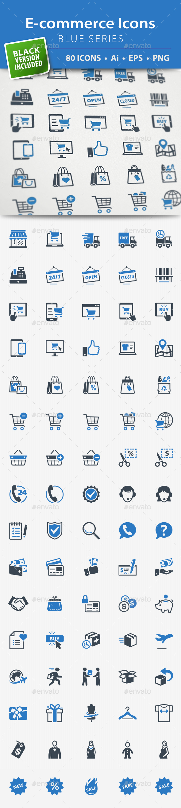 E-commerce Icons - Blue Series - Web Icons