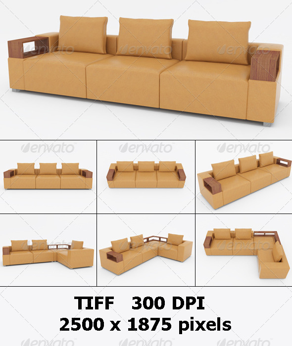 Set of Sofas.3D Illustration - Objects 3D Renders