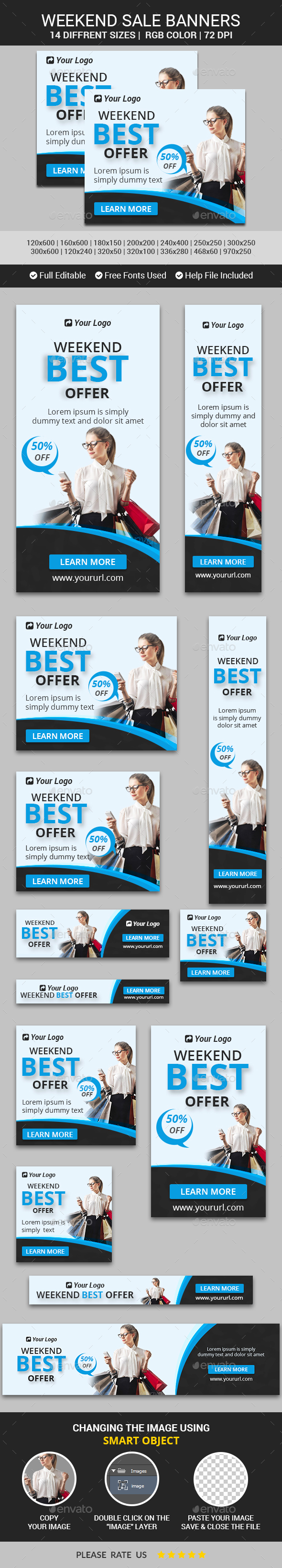 Weekend Sale Banners v12 - Banners & Ads Web Elements