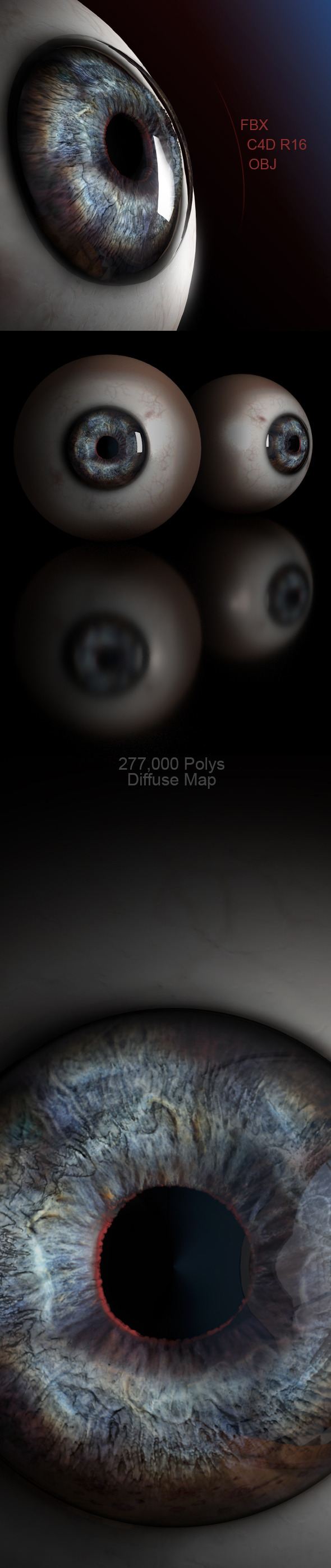 High Poly Human Eye - 3DOcean Item for Sale