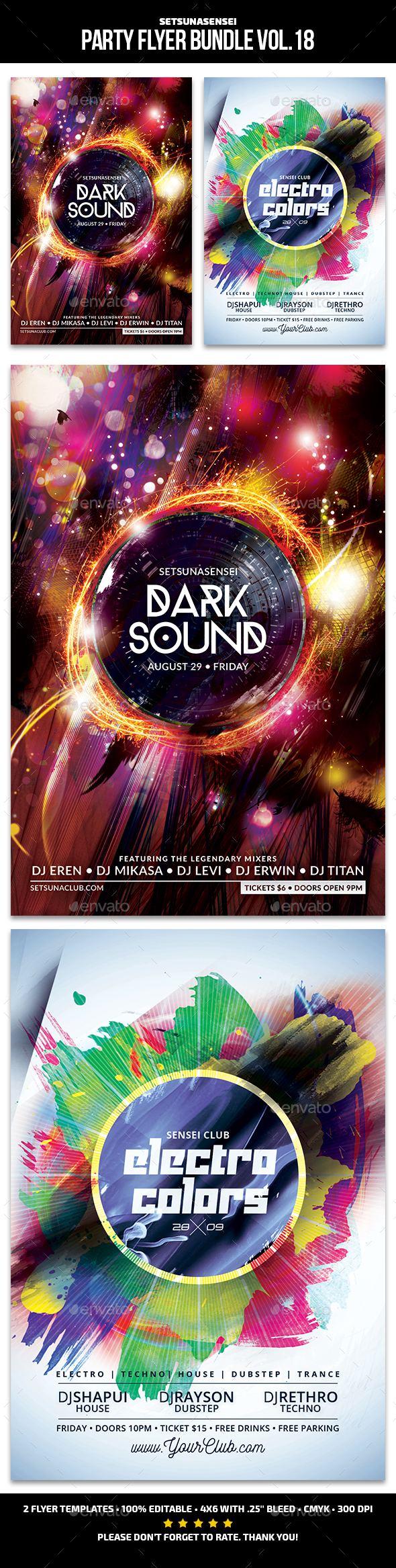 Party Flyer Bundle Vol. 18 - Clubs & Parties Events