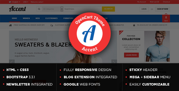 Accent – Responsive Multipurpose OpenCart Theme
