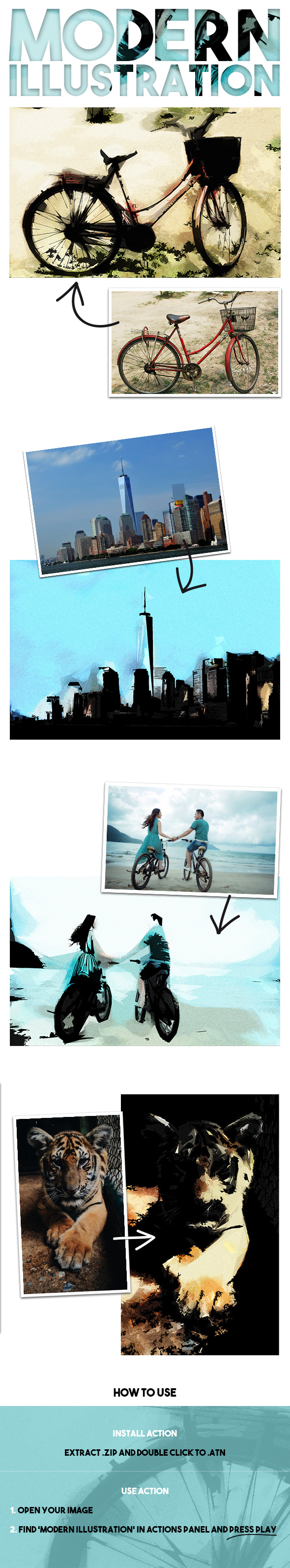 Modern Illustration - Photo Effects Actions