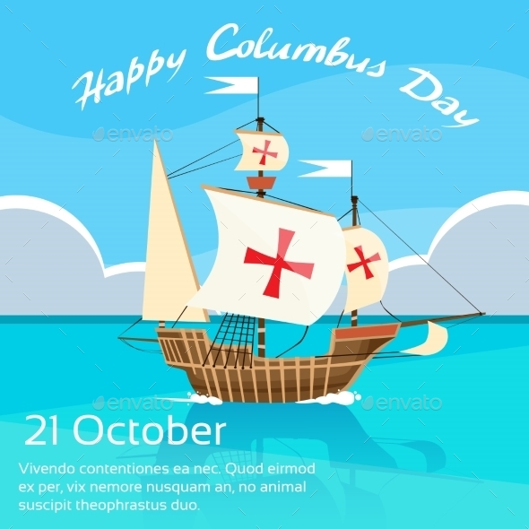 Happy Columbus Day - Travel Conceptual