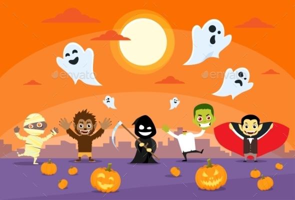 Halloween Monsters Banner - Halloween Seasons/Holidays