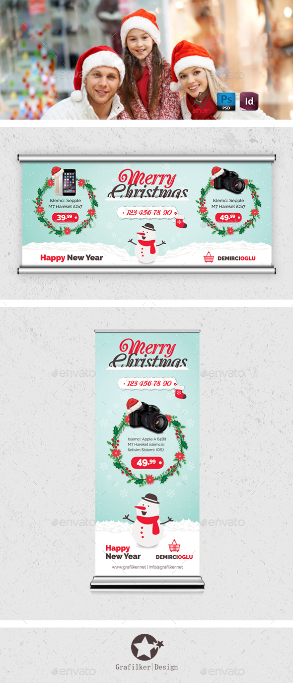 Christmas Product Billboard Templates - Signage Print Templates