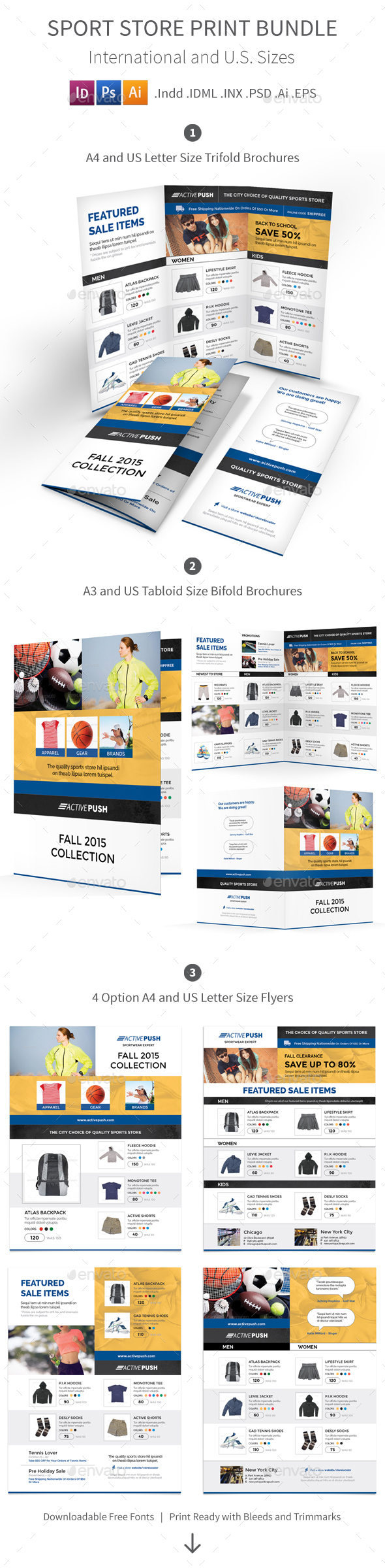 Sport Store Print Bundle - Corporate Brochures