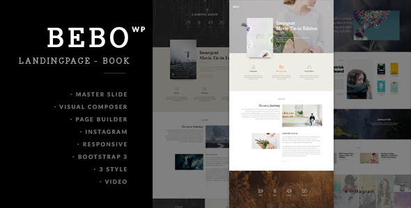 BEBO – Book + Author Landing Page