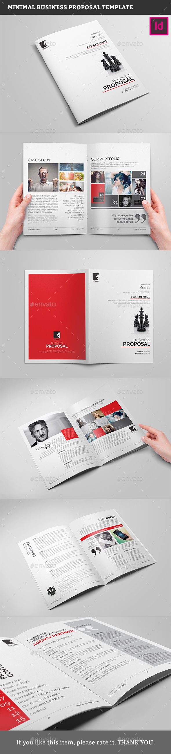 Minimal Business Proposal Template - Proposals & Invoices Stationery