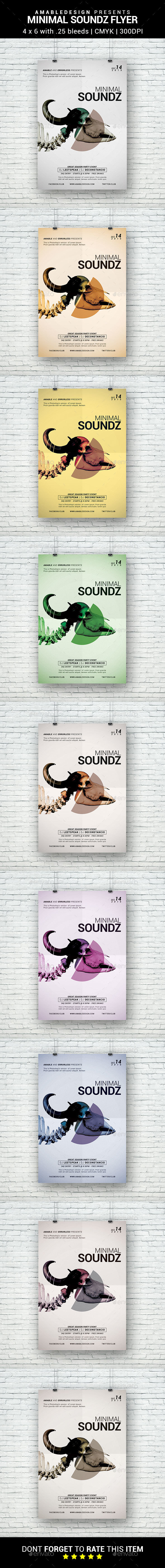 Minimal Soundz Flyer - Clubs & Parties Events