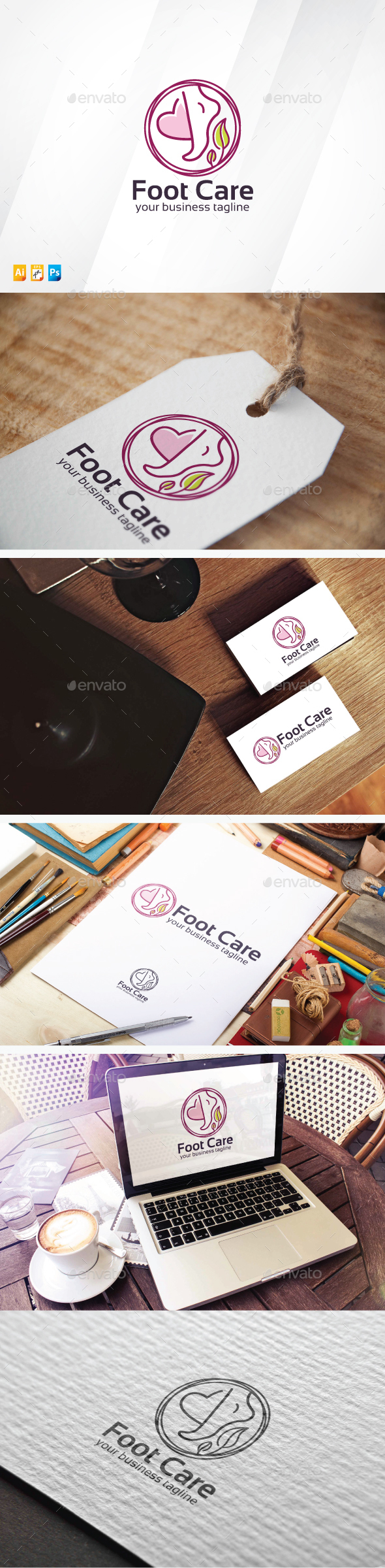 Foot Care - Humans Logo Templates